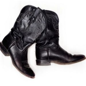 🎉Tony Lama Black Leather Cowgirl Boots🎉